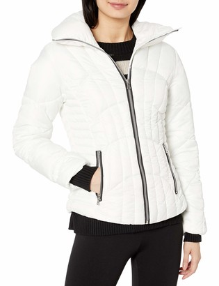 Pink Platinum Women's Plus Size Matte CIRE Down Blend Jacket