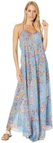 Etro Cross-Back Strappy Long Cover-Up Dress (Blue) Women's Swimwear