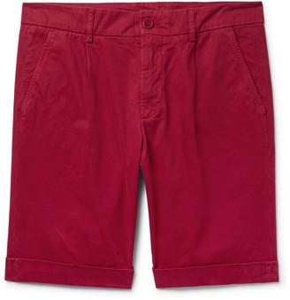 Aspesi Pleated Cotton-Twill Chino Shorts