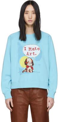 Marc Jacobs Blue Magda Archer Edition I Hate Art Sweatshirt