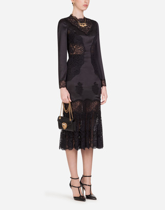 Dolce & Gabbana Lace And Satin Midi Dress