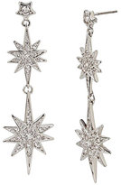 Betsey Johnson Betsey Blue Star Double Drop Earrings
