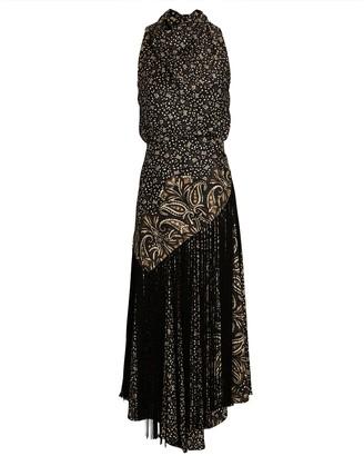 Jonathan Simkhai Dahlia Paisley Midi Halter Dress