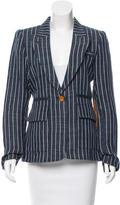 Smythe Striped Linen Blazer w/ Tags
