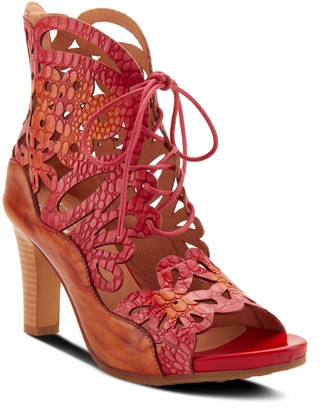 Spring Step L'Artiste By Lace Up Leather Sandals - Osocool