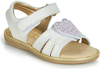 Citrouille et Compagnie JAFILOUTE girls's Sandals in White