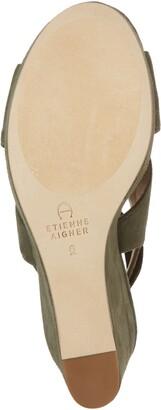 Etienne Aigner Dominica Suede Platform Wedge Sandal