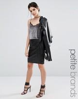 Vero Moda Petite Faux Leather Pencil Skirt