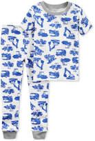 Carter's 2-Pc. Truck-Print Cotton Pajamas, Toddler Boys