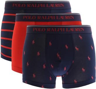 Ralph Lauren Underwear 3 Pack Boxer Trunks Red