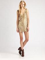 Roseanna Glitter-Coated V-Back Dress