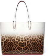 Christian Louboutin Cabata Studded Dégradé Leopard-print Leather Tote - Brown