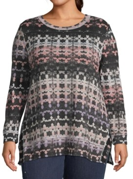 John Paul Richard Plus Size Metallic Printed Tunic