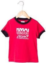 Armani Junior Boys' Graphic Printed T-Shirt