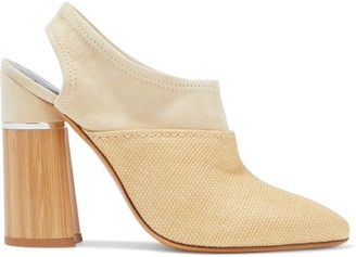 3.1 Phillip Lim Drum Raffia And Suede Slingback Pumps