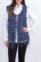 Umgee USA Blue Fringe Vest