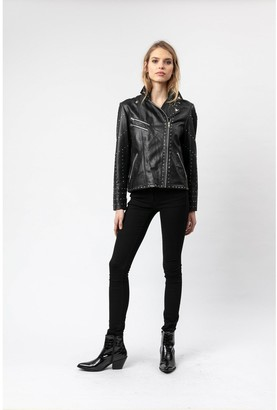 Religion Complex Studded Leather Jacket - Black