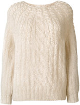 Mes Demoiselles cable-knit jumper
