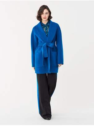 Diane von Furstenberg Priel Double-Face Wool Coat