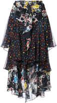 Jason Wu floral ruffle trim skirt