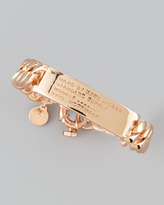 Marc by Marc Jacobs Standard Supply ID Chain Bracelet, Rose Golden