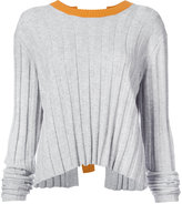 Derek Lam 10 Crosby Bicolored Pullover With D-Ring Back Detail