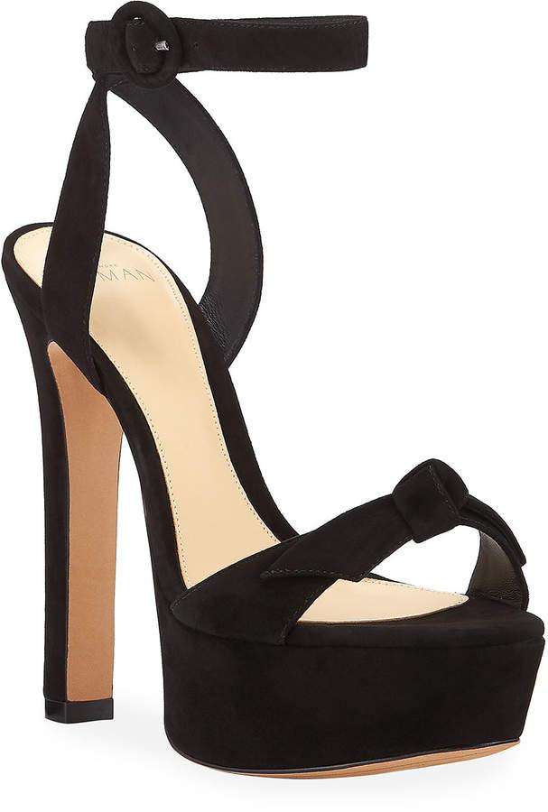 Alexandre Birman Clarita Evening Suede Platform Sandals
