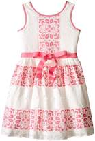 Us Angels Sleeveless Lace Dress w/ Cut Out Back & Skirt (Big Kids)