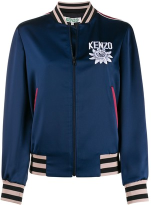 Kenzo Embroidered Detail Bomber Jacket
