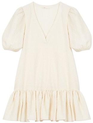 Maje Rolita Oversized Flounce Hem Dress