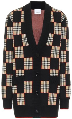 Burberry Chequer wool-blend cardigan