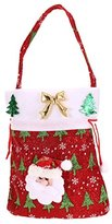 Whitelotous Decorative Christmas Cute Kids Candy Bag Pouch Bags Gift & Treat Bag Holiday Fun Christmas Decor 20x24cm (Red Santa)