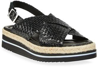Sesto Meucci Skyla Woven Espadrille Sandals, Black