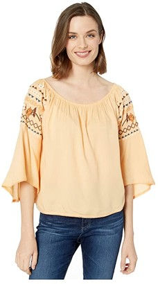 Ariat Rachel Top (Apricot Rays) Women's Clothing