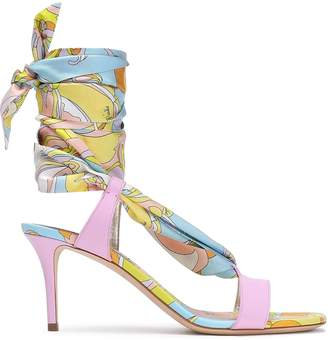 Emilio Pucci Printed Leather Sandals