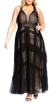 City Chic Divine Whimsy Maxi Dress