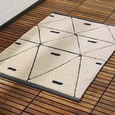 CB2 Geometric Bath Mat