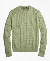 Brooks Brothers Supima® Cotton Cable Knit Crewneck Sweater