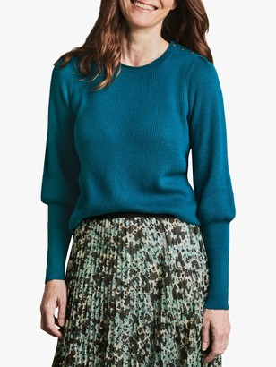 Pure Collection Button Detail Jumper