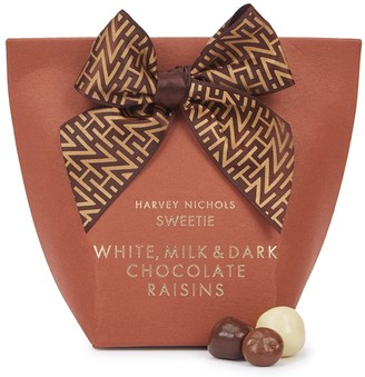 Harvey Nichols White, Milk & Dark Chocolate Raisins 125g