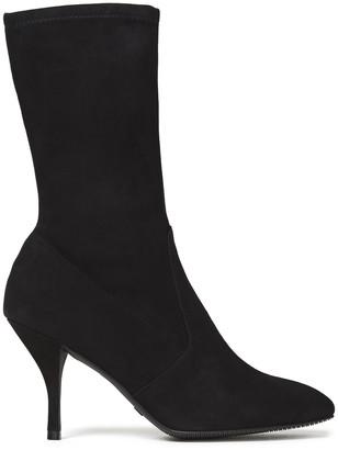 Stuart Weitzman Slaine 80 Stretch-suede Ankle Boots