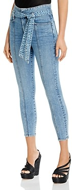 Alice + Olivia Good Belted Skinny Ankle Jeans