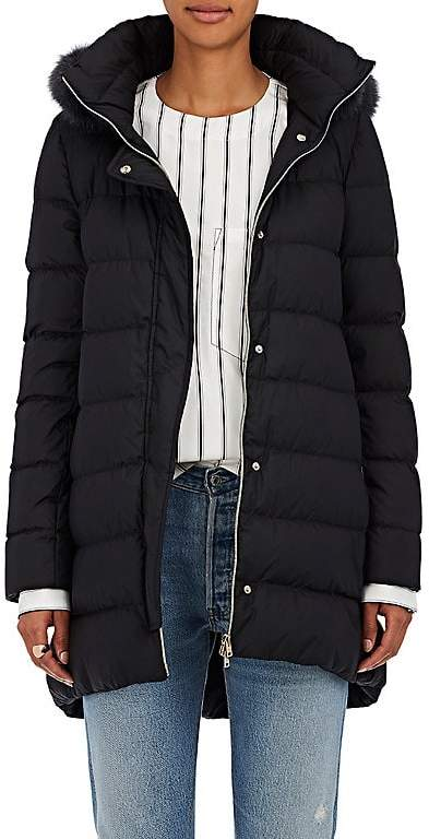 Herno Women's Fur-Trimmed Down-Quilted Jacket
