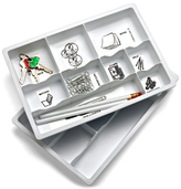 Container Store Drawer Organizers White Pkg/2