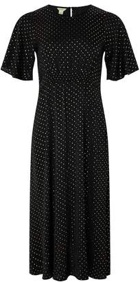 Monsoon Alexia Foil Spot Midi Dress