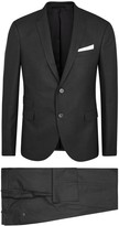 Neil Barrett Charcoal Stretch Wool Suit