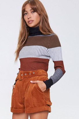 Forever 21 Belted Corduroy Shorts