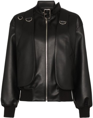 we11done buckle detail bomber jacket