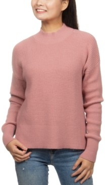 Hippie Rose Juniors' Super-Soft Mock-Neck Sweater