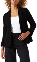 Jigsaw Double Knit Raw Edge Blazer Jacket, Black